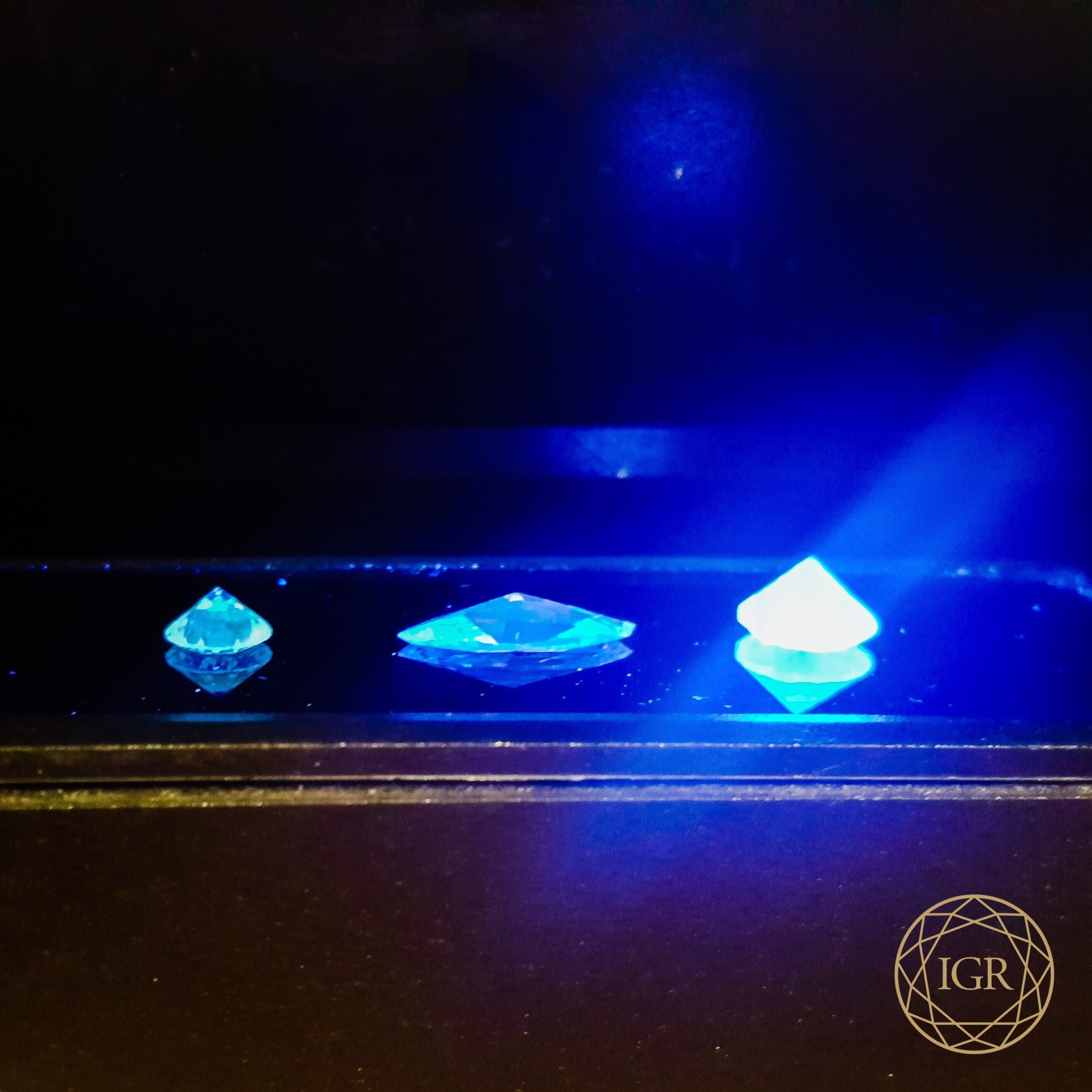 fluorescence picture and diamond michael bespoke strong gold blue jewellery wall in carefully diamonds certified